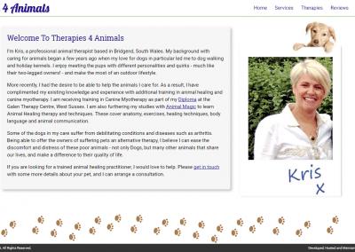 Therapies 4 Animals Website