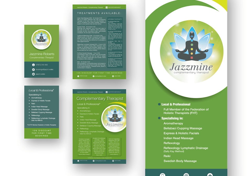 Event Promotion set – Jazzmine Complementary Therapist